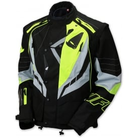 2017 UFO RANGER MX / ENDURO JACKET - BLACK GREY YELLOW