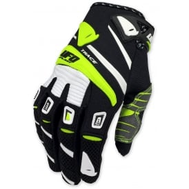 2017 UFO TRACE MOTOCROSS GLOVES - BLACK YELLOW WHITE