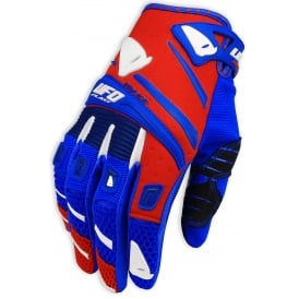 2017 UFO TRACE MOTOCROSS GLOVES - RED BLUE