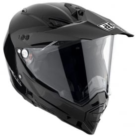 AGV AX-8 DUAL EVO SOLID/PLAIN GLOSS BLACK