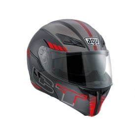 AGV COMPACT-ST SEATTLE BLK/SIL/RED