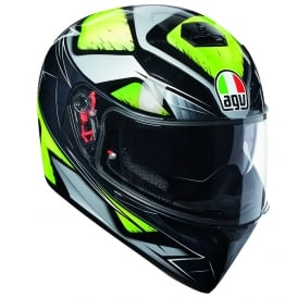AGV K3 SV Liquefy Grey/Fluo Yellow