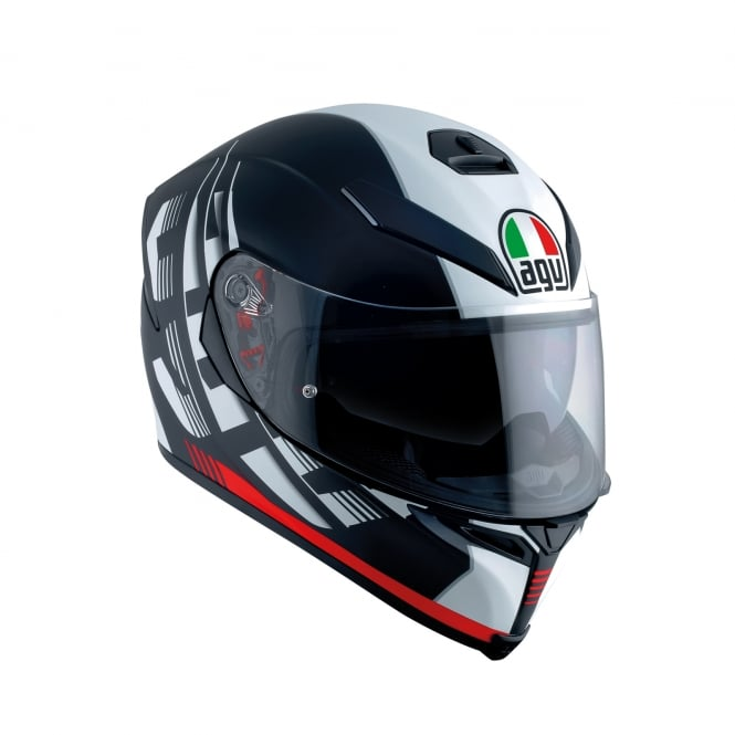 AGV K5-S DARKSTORM MATT BLACK / RED