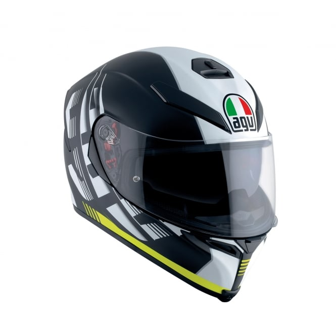 AGV K5-S DARKSTORM MATT BLACK / YELLOW