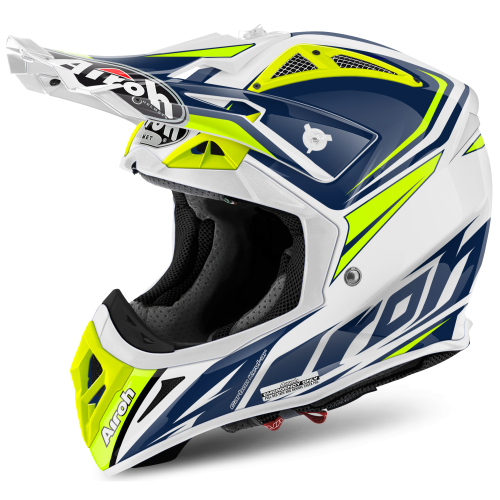 Airoh Aviator 2 2 Ready Blue Motorcycle Helmets From