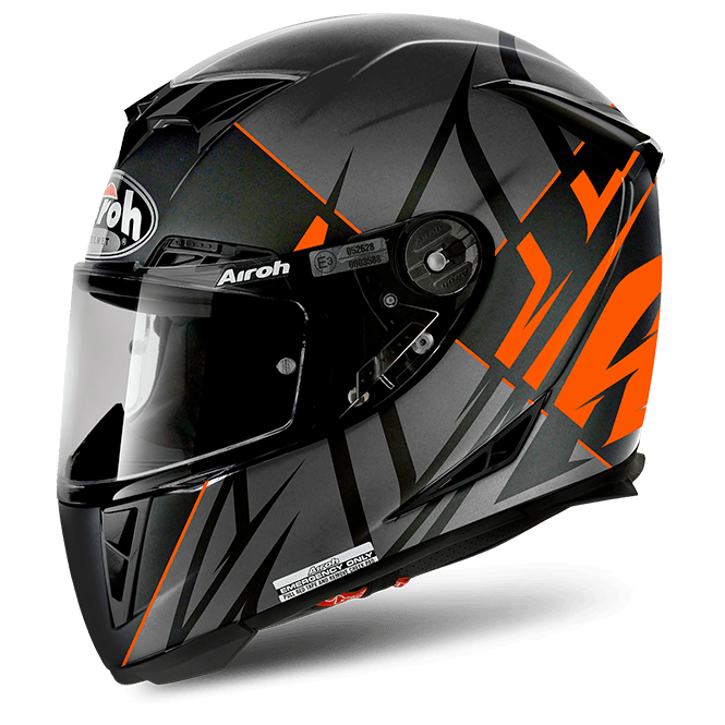 Airoh GP500 Helmet Sectors Orange Matt