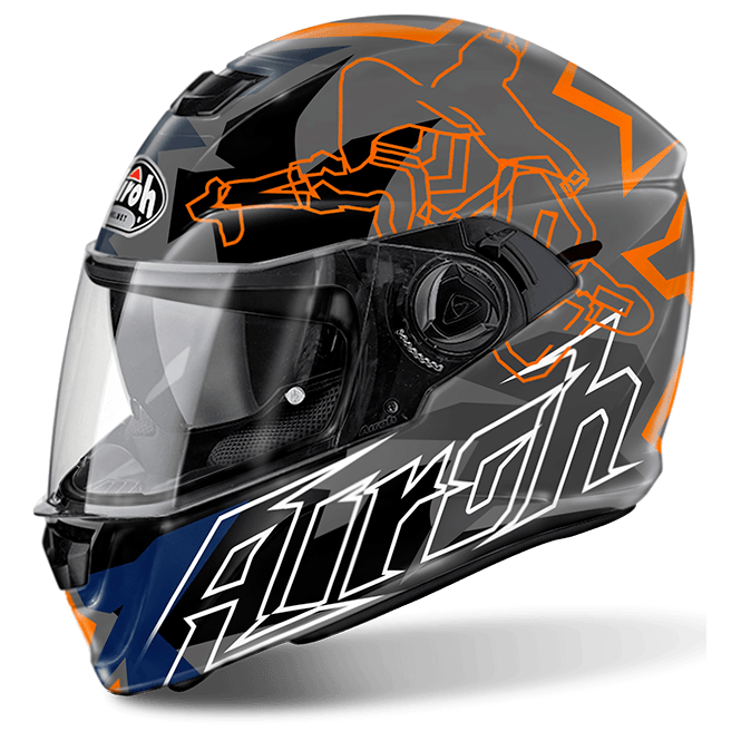 Airoh Storm Helmet Bionikle Orange