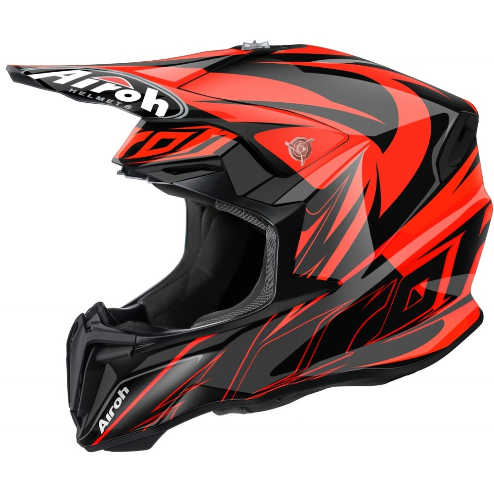 airoh twist motocross helmet evil orange motorcycle. Black Bedroom Furniture Sets. Home Design Ideas