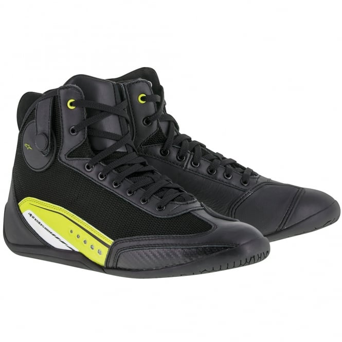 Alpinestars Ast-1 Shoes Black/Yellow Fluo