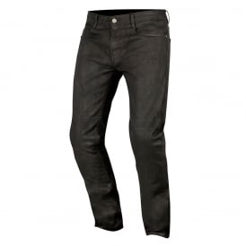 Double Bass Denim Pants With Kevlar Greaser Black