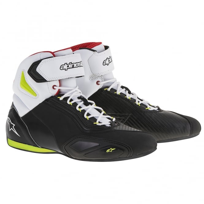 Alpinestars Faster 2 Boots Black/Yellow/Red