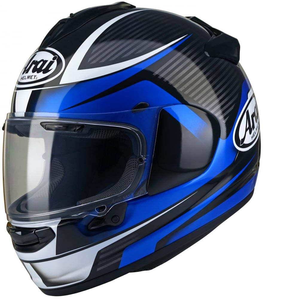 Arai Chaser X Tough Blue Motorcycle Helmets From Custom