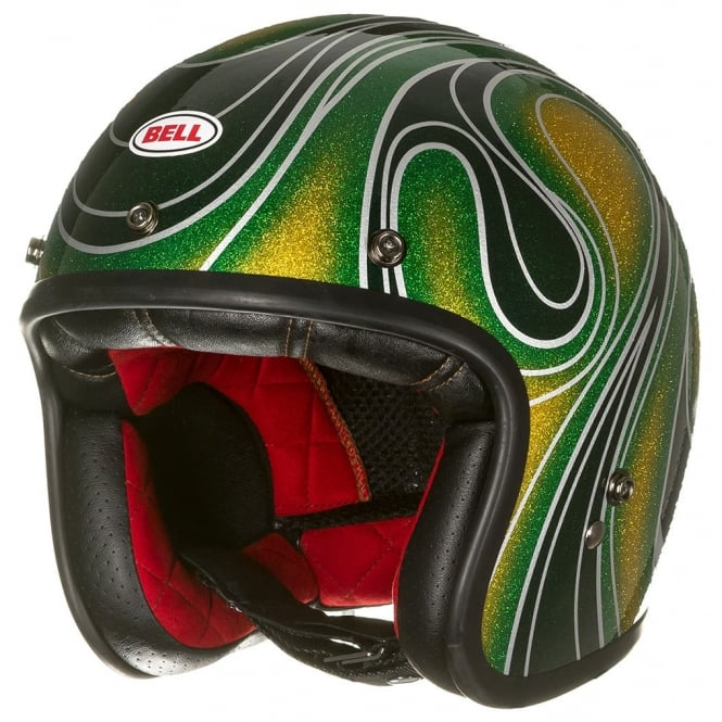 Bell Motorcycle Helmets Bell Custom 500 SE Chemical Candy Green