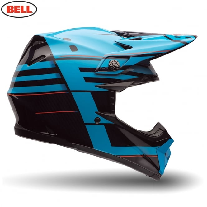 Bell Motorcycle Helmets Bell Moto-9 Flex Blocked Blue