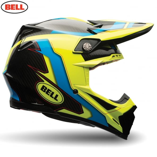 Bell Moto-9 Flex Factory Blue / Hi- Viz Yellow
