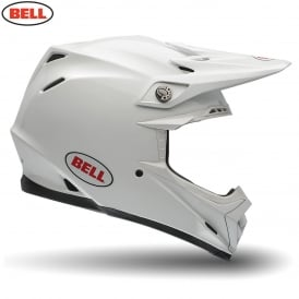 Bell Moto-9 Solid White