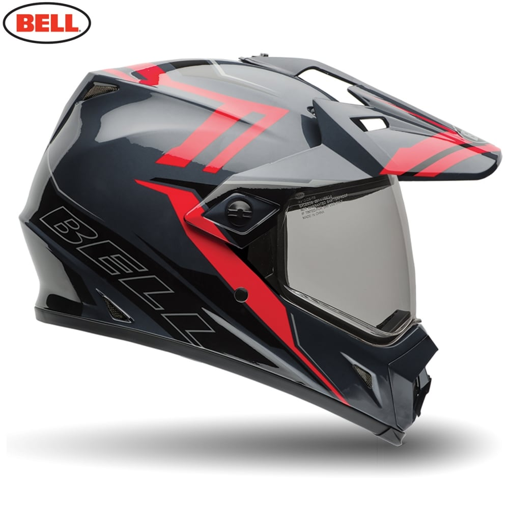 Bell Mx 9 Adventure Barricade Red Motorcycle Helmets