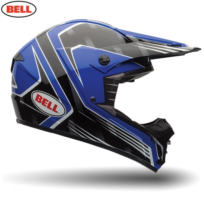 Bell Motorcycle Helmets Bell MX SX-1 Race Blue