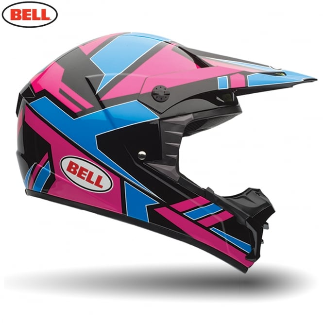 Bell Motorcycle Helmets Bell MX SX-1 Stack Blue / Pink