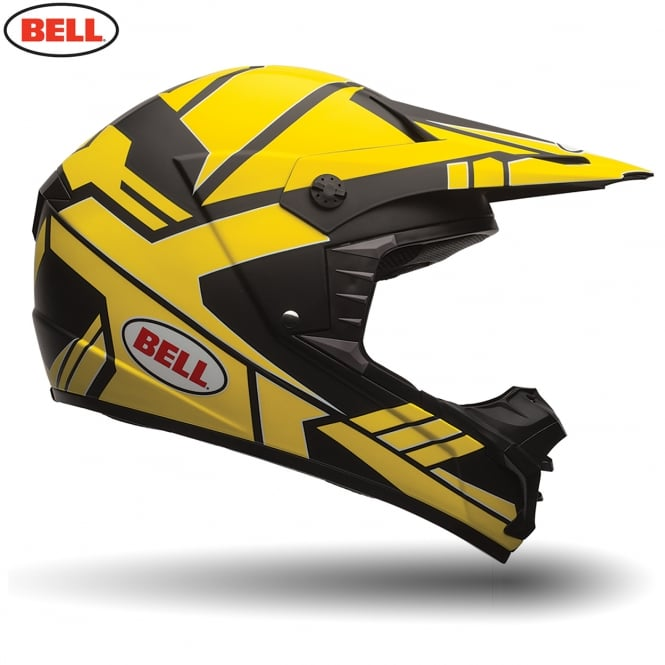 Bell Motorcycle Helmets Bell MX SX-1 Stack Charcoal / Yellow