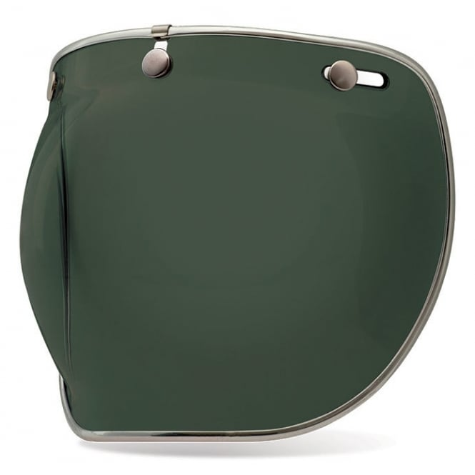 Bell Motorcycle Helmets Bell Replacement Custom 500 3-Snap Bubble Deluxe Shield Wayfarer Green