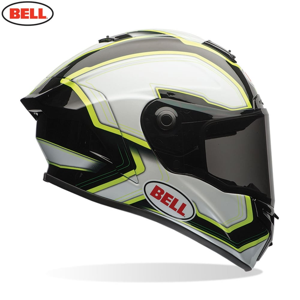 Bell Motorcycle Helmet >> Bell Star Pace Black White Motorcycle Helmets From Custom Lids Uk