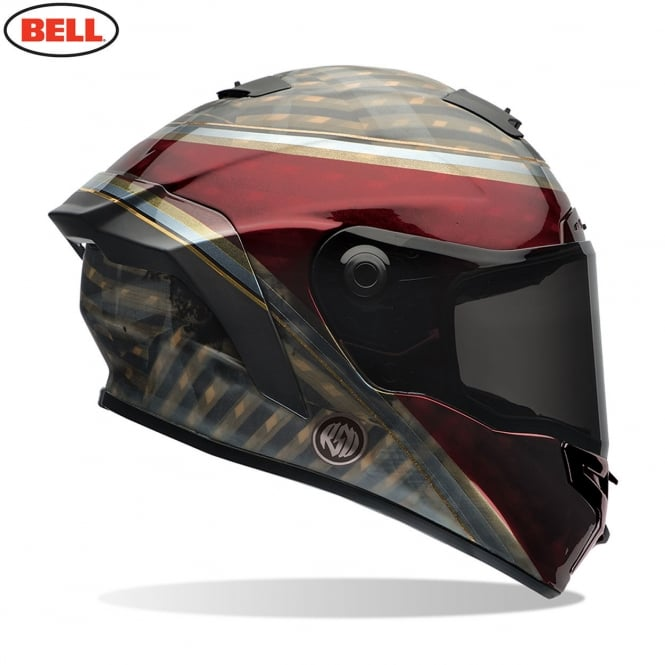 Bell Motorcycle Helmets Bell Star RSD Blast Dark Red / Black