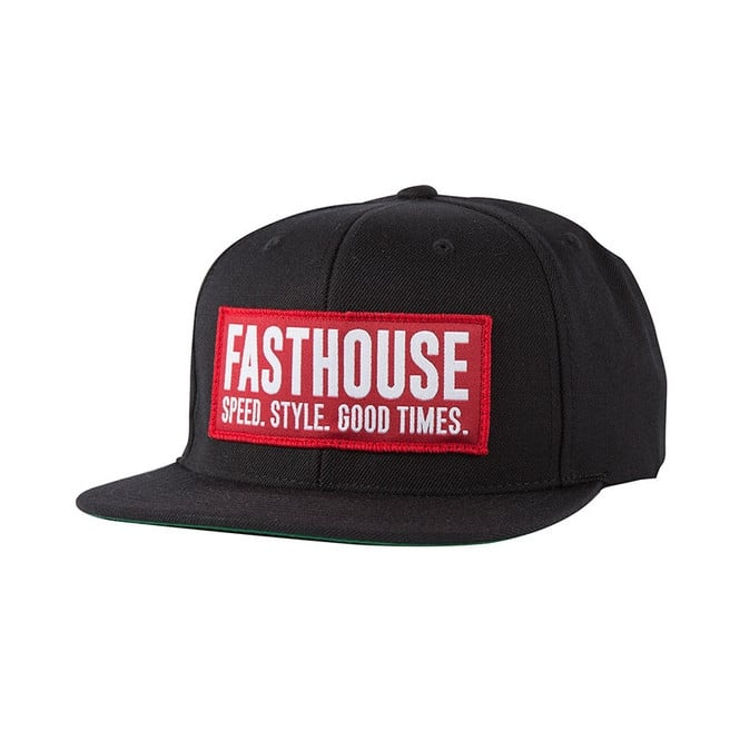 Fasthouse Block House Cap (Red-Black) One Size