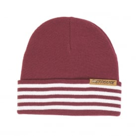 Fasthouse Four Stripe Beanie (Maroon) One Size