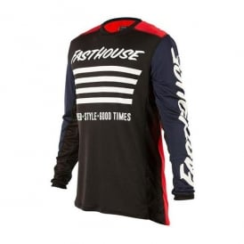 Fasthouse Stripes L1 Jersey Red / Navy