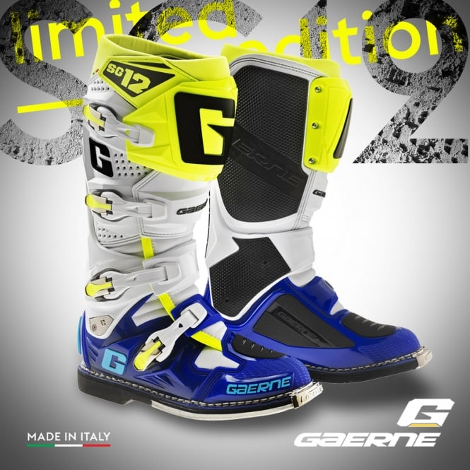 Gaerne SG12 Boots Blue/White/Yellow