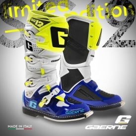SG12 Boots Blue/White/Yellow