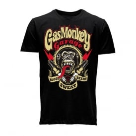 Gas Monkey Blood Sweat Gears Tee