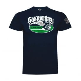 Gas Monkey Cigar Tee Navy