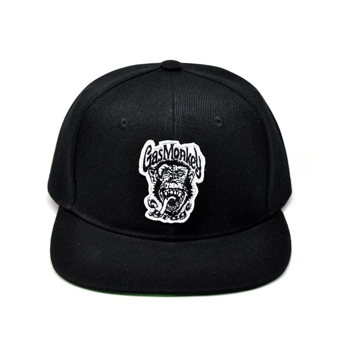Gas Monkey Snapback Cap Black Green Monkey