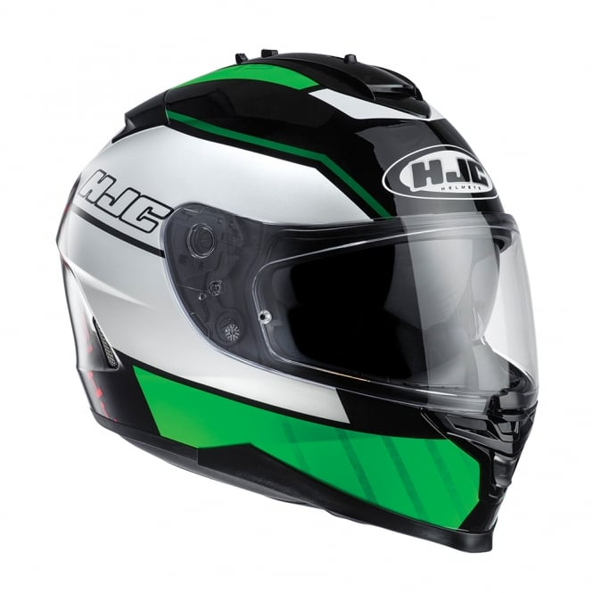 HJC IS-17 Tridents Green White Black