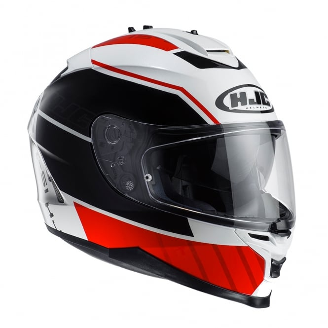 HJC IS-17 Tridents Red White Black