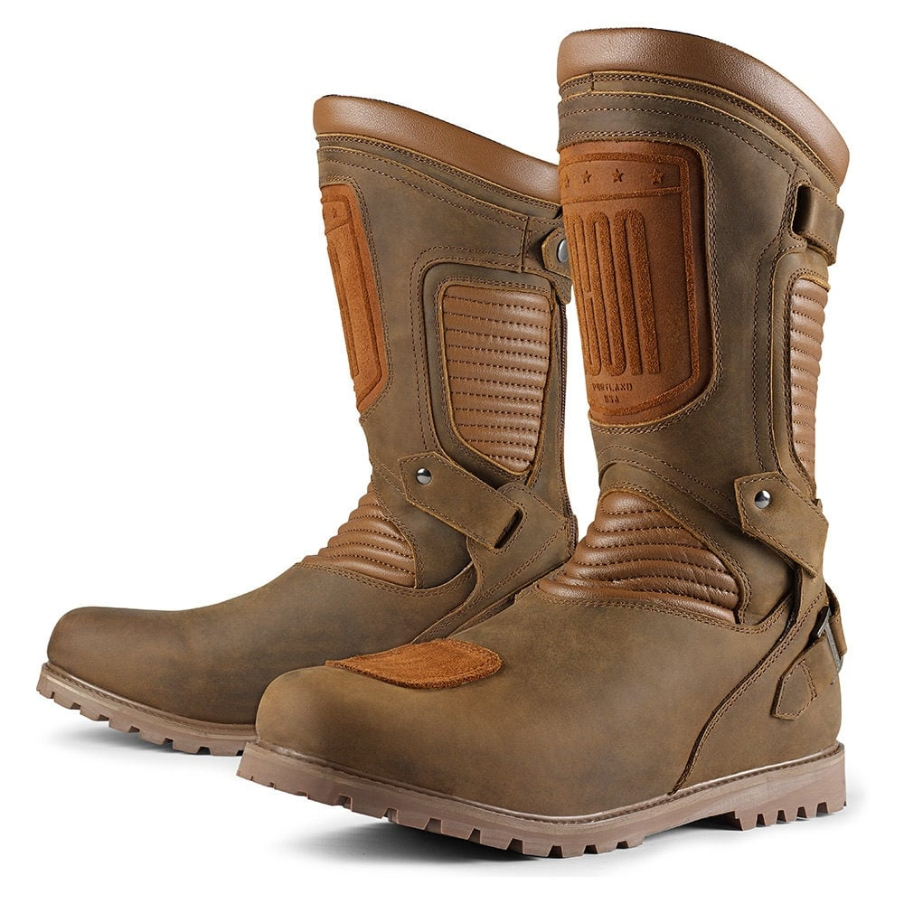 Icon Prep Boot Brown Motorcycle Boots From Custom Lids Uk