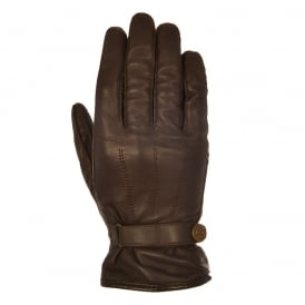 Holton Men's short classic leather Gloves Brown