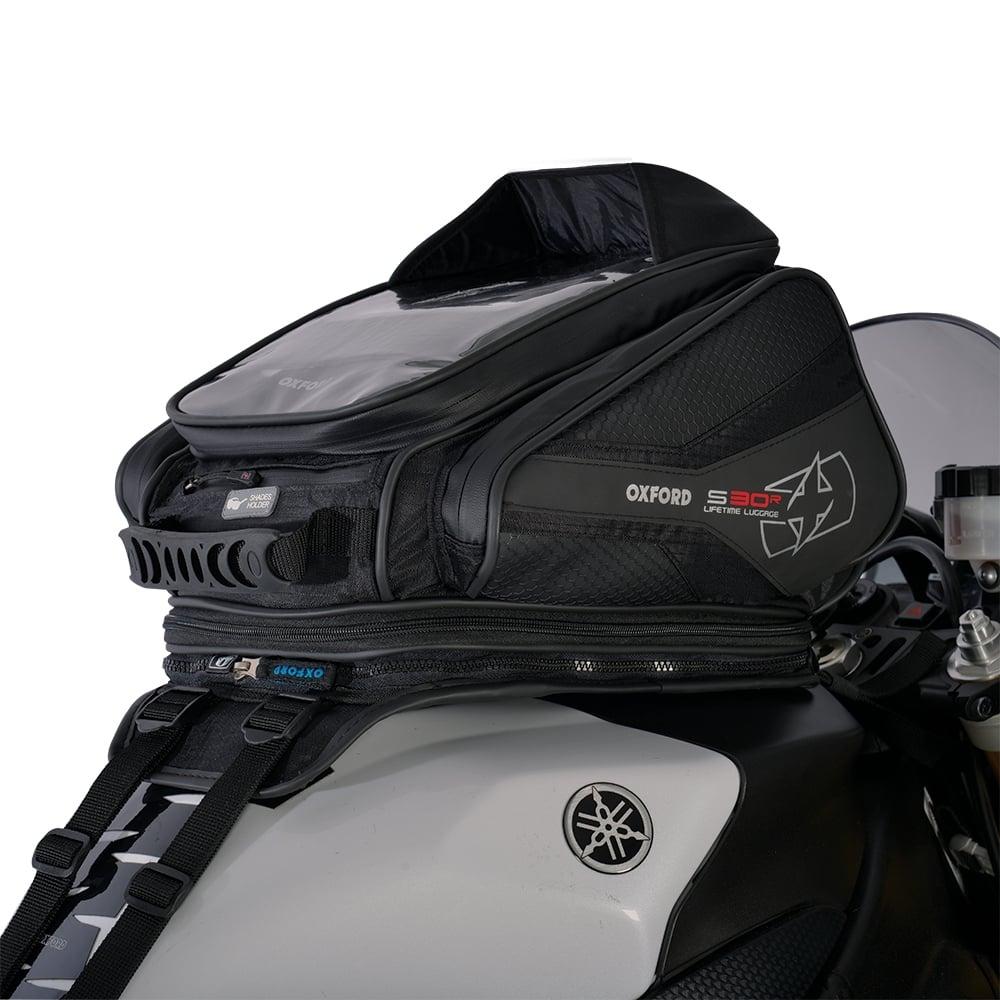 Oxford S30r Strap On Tank Bag Black Motorcycle Luggage