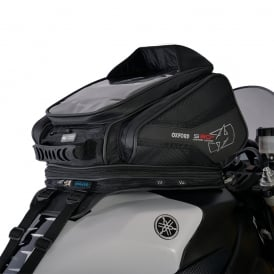 Oxford S30R Strap on Tank Bag - Black