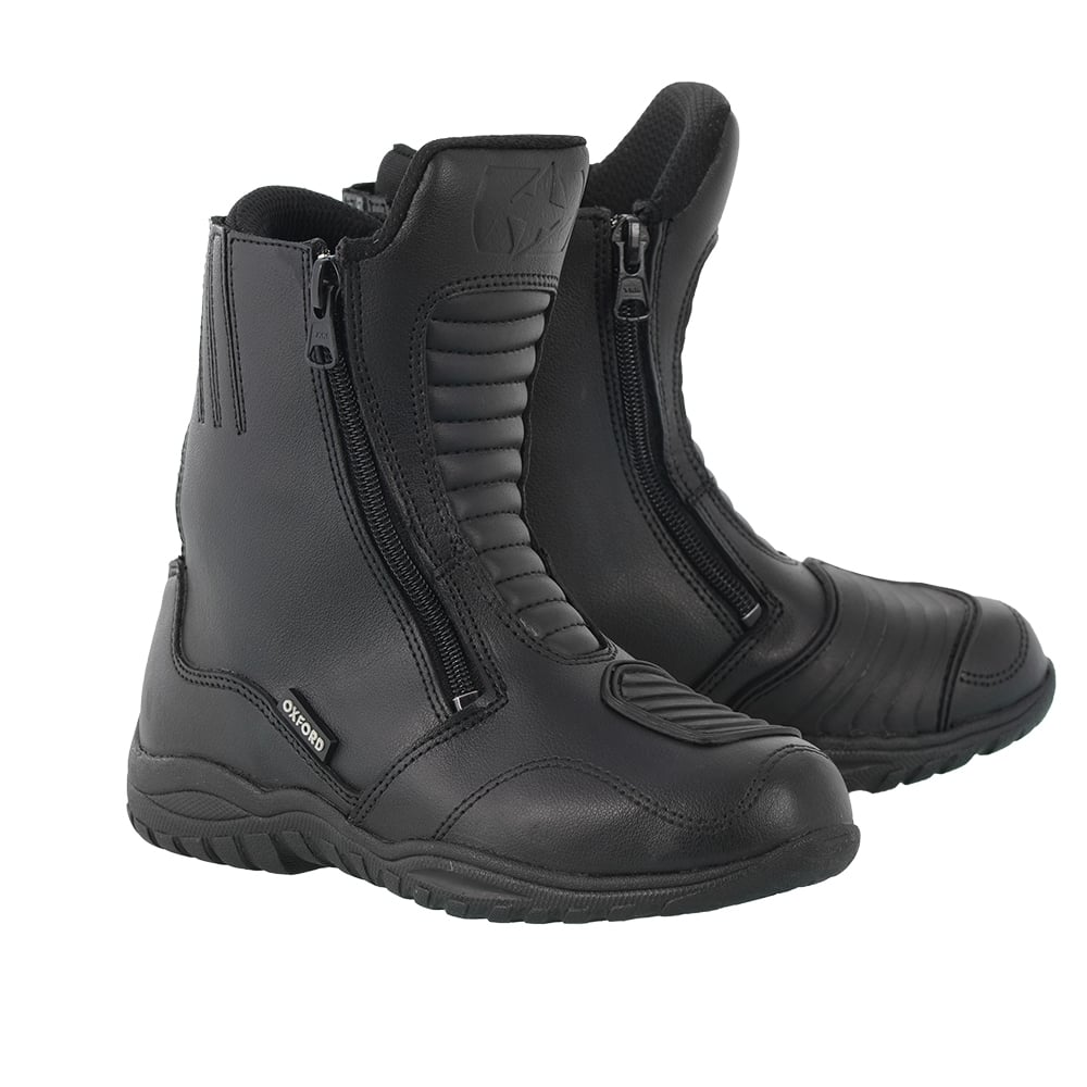 Oxford Warrior Boots Black Motorcycle Boots From Custom Lids Uk