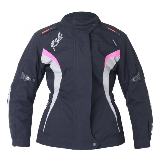 RST GEMMA LADIES TEX JKT BLK/PNK
