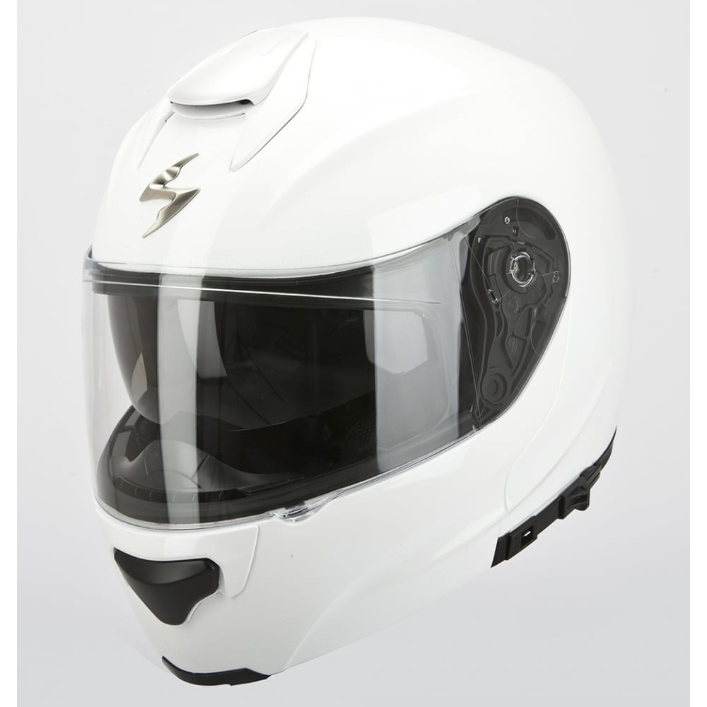 scorpion exo 3000 gloss white motorcycle helmets from custom lids uk. Black Bedroom Furniture Sets. Home Design Ideas