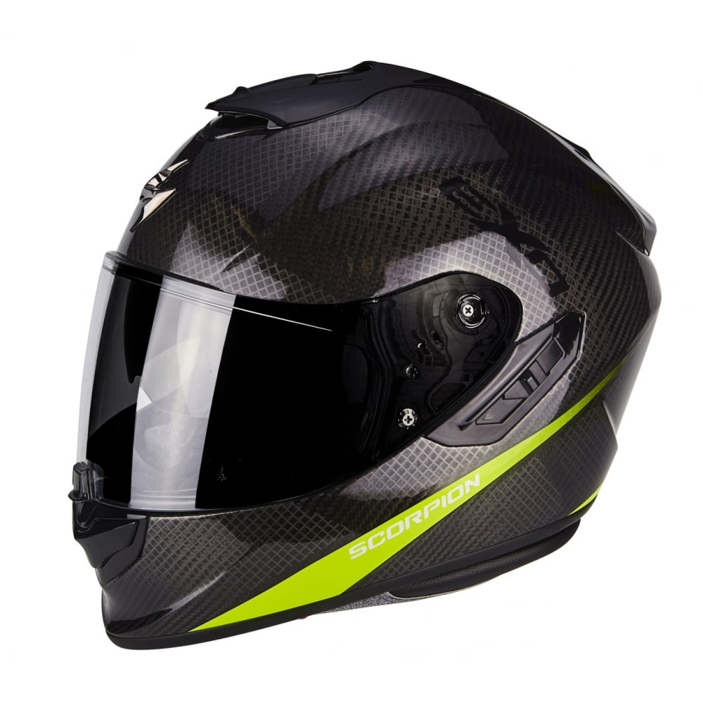 scorpion exo 1400 carbon pure yell motorcycle helmets. Black Bedroom Furniture Sets. Home Design Ideas