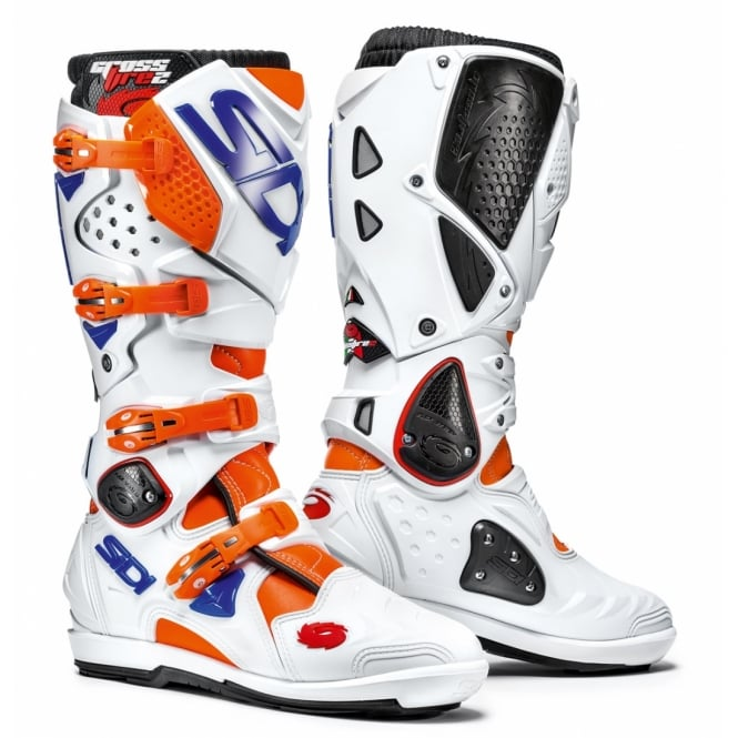 Sidi Crossfire 2 SRS Orange Fluo/White