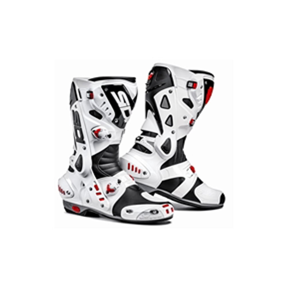 Sidi Vortice Black White Motorcycle Boots From Custom Lids Uk