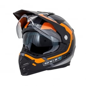 Spada Helmet Intrepid Beam Matt Black/Orange/Anthracite
