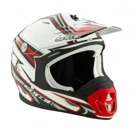 Spada Helmet Violator Grit White/Red