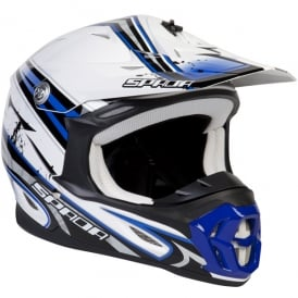 Spada Helmet Violator Hawk White/Blue